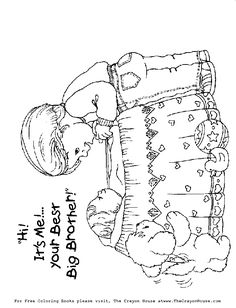 coloring pages To wele the new baby Grandchildren
