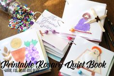 Over the course of my blogging career I've created a lot of things–patterns, printables, templates–but I am, by far, the most proud of the Rosary Quiet Book I created. And here&#…
