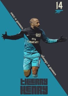 Cazadores Retro Posters by Dani Rivera: Thierry Henry Football Ads, Football Is Life, Arsenal Football, Football Design, Football Match, Arsenal Fc, Arsenal Players, Thierry Henry, Soccer Pro