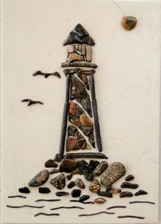 Lighthouse Pebble Mosaic