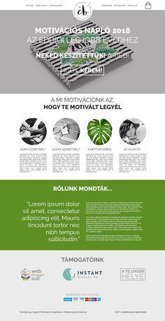 Webdesign - weboldal a Gondolj egy nagyot! motivációs alapítványnak.