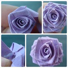 Como Hacer Flores En Papel | papel vereis como la flor de papel va cobrando vida
