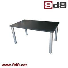 dcf6f217cbbd Mesa oficina de ocasión, tablero laminado color negro, con cuatro patas  tubulares cromadas,