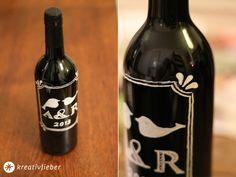 DIY Weinflaschen Etikett