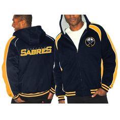 Buffalo Sabres Full Zip Fleece Jacket - Navy Blue