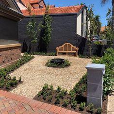 "Heath on Instagram: ""Greenvale front yard for @bloominteriordesign_australia Teak seating, solid bluestone letterbox, quality plants again from…"" Garden Accessories, Teak, Yard, Australia, Patio, Outdoor Decor, Plants, Instagram, Home Decor"