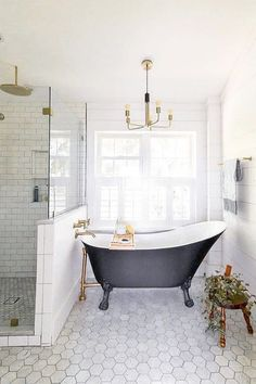 Modern Black and White Bathroom with Brass Accents. Bathroom with Barn Door. Farmhouse Sink in Bathroom, Shiplap Bathroom farmhouse sink Modern Black and White Bathroom with Brass Accents Farmhouse Bathroom Sink, Shiplap Bathroom, Brass Bathroom, Bathroom Renos, Bathroom Layout, Bathroom Furniture, Bathroom Interior, Bathroom Black, Bathroom Shelves