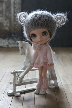 For Blythe. Pale Pink Super Fluffy Angora by TaylorCouture on Etsy