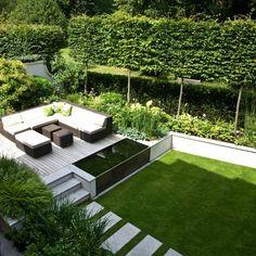 40 Wonderful And Modern Garden Architecture Design Ideas Contemporary Garden Design, Small Garden Design, Landscape Design, Garden Modern, Modern Planting, Modern Garden Furniture, Modern Design, Pond Design, Modern Gardens
