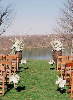 murray hill wedding, white cherry blossom, potomac river wedding