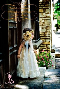 Creme Brulée Crushed Cotton Day Dress for your flowergirl