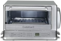 This is the model we use in our kitchen and videos. It is simple enough to use that no RTFM is required . Delivers very good results on toast each time with a consistent darkness and easy to read timer that lets you know when it will be done. I highly recommend it is traditional Cuisinart quality. A toaster oven is a small, electric oven. It is like a cross between an oven and a toaster. Inside is a removable baking pan and wire rack and the...