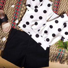 Compra colombiano Marca colombiana #colombianbeauty #colombianbrand  #buyonline #skirt #midi  #trendy #outfit #short #culotte #croptop #enterizo  #sandalias #tacones #t-shirt #blusa Colombian Beauty, Short, Polka Dot Top, Instagram, Women, Fashion, Shopping, Festivus, Branding
