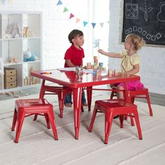 The kids could play all day with this activity table in their play room.