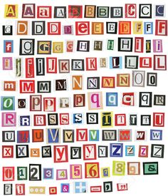 Blackmail type typography pinterest typography magazine letters cut out google search spiritdancerdesigns Gallery