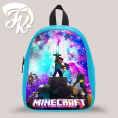 Minecraft Game Galaxy Kid School Bag Backpacks for Child Minecraft Bag 88478357036cc