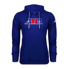 American Motorcyclist Association Adidas Climawarm Royal Team Issue Hoodie Official Logo