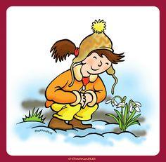 © Barnabus - Książka eRyś zaprasza do lasu 1 ▪ Book eRys Invites You to the Forest - #Dziewczynka i przebiśnieg ▪ #Girl and #snowdrop.