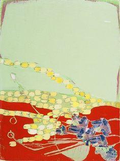 """Misato Suzuki - """"Melonball""""  2005 12"""" x 9""""  Acrylic and Ink on Panel"""