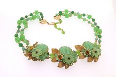 Vintage Stanley Hagler Necklace Green