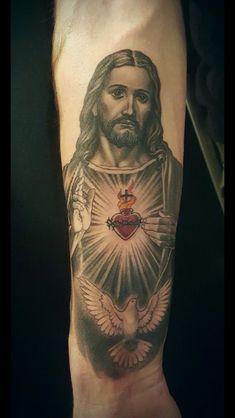 ❤ tattoo jesus cristo, christ tattoo, jesus tattoo, tattoo you, pin up God Tattoos, Pin Up Tattoos, Forearm Tattoos, Future Tattoos, Body Art Tattoos, Sleeve Tattoos, Heaven Tattoos, Christ Tattoo, Jesus Tattoo