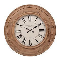 Lawson Natural Woodgrain Clock $129.99