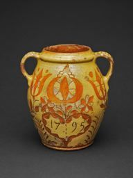 Artist unknown  American, Southeastern Pennsylvania        Jar, 1795              Redware