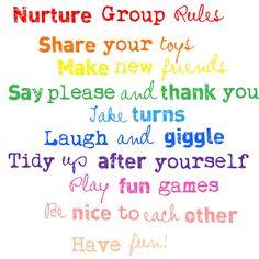 Nurture Group Rules Behavior Management Strategies, Behavior Rewards, Social Emotional Learning, Social Skills, Group Activities, Educational Activities, Special Educational Needs, Educational Psychology, School Displays