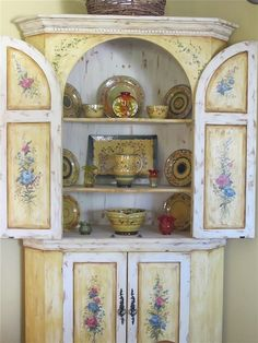 Lovely hand painted cabinet www.mysoulfulhome.com