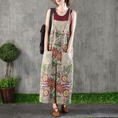 a858e1c70345 Fashion Printed Casual Loose Jumpsuit