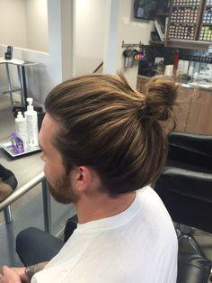 Man Bun Hairstyles, Mens Hairstyles With Beard, Hair And Beard Styles, Curly Hair Styles, Man Bun Styles, Long Hair Problems, Long Hair Designs, Long Hair Beard, Gents Hair Style