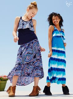 ca1b39e55efea High-low maxi skirts and match-back tops in bold