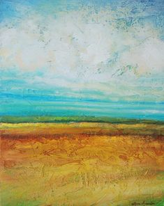 Landscape painting Abstract acrylic painting by avaavadonstudio, $750.00