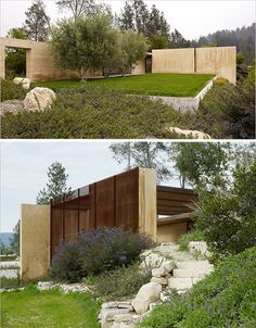 Modern Rammed Earth Napa Valley Home