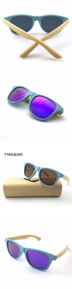 2016 Polarized Lens Water Blue PC Frame Wood Sunglasses Men Reflective Sports Sun Glasses Outdoors Square Eyewear Gafas De Sol