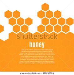 Abstract hexagonal honeycomb background. Vector illustration  - stock vector