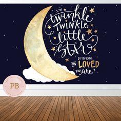 Digital Twinkle Twinkle Little Star Backdrop, Twinkle Little Star Birthday Backdrop, Twinkle Little Star Baby Shower Backdrop, by PeonyBlushDesigns on Etsy