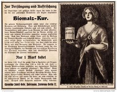 Original-Werbung/ Anzeige 1910 - BIOMALZ - KUR - ca. 180 x 140 mm