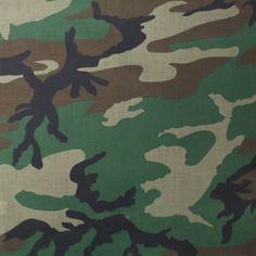 """Woodland Camouflage Military 27"""" x 27"""" Cotton Bandana   4347 WOODLAND   $2.69"""