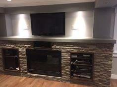 Fireplace Surrounds, Flat Screen, Home Decor, Homemade Home Decor, Flat Screen Display, Decoration Home, Fireplace Mantel, Fireplaces, Interior Decorating