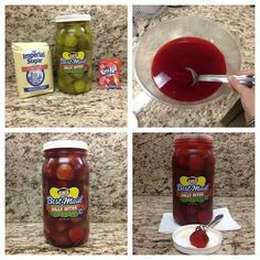 Gotta try. Kool Aid Pickles Recipe, Koolaid Pickles, Appetizer Recipes, Snack Recipes, Cooking Recipes, Snacks, Appetizers, Taste And See, Korean Food