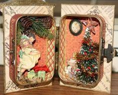 Christmas Altoid tin mixed media