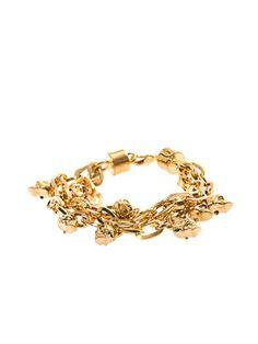 Multi-strand skull charm bracelet | Alexander McQueen | MATCHE...