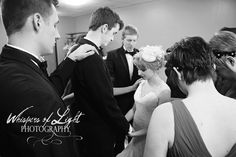 Wedding Party Prayers - Whispers of Light Photography - Central MN Wedding photographer