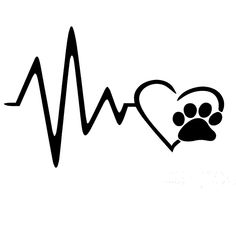 x 2 x Heart Beat Paw Funny Graphical (one For Each Side) Car Sticker For Truck Window Auto Door Vinyl Decal 9 Colors Cute Easy Drawings, Amazing Drawings, Ekg Tattoo, Paw Print Art, Dog Silhouette, Dog Paws, Car Stickers, In A Heartbeat, Small Tattoos