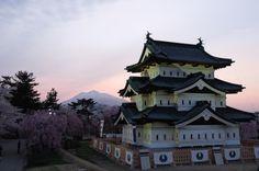 Hirosaki Castle by night