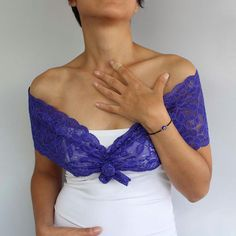 Bridal Lace Shoulder Wrap Unusual Necklace in by mammamiaeme, $33.00