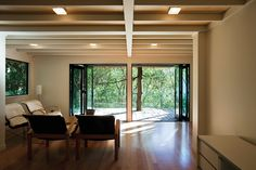Glade House — SGA House, Home, Glade, Fire Area, Modern House, Living Spaces, Rafter, Exposed Rafters, Second Floor