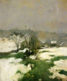 """ An Early Winter, John Henry Twachtman, c.1882 """