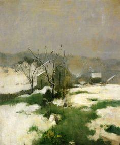 """"""" An Early Winter, John Henry Twachtman, c.1882 """""""